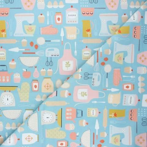 Tissu coton Dashwood Studio Hobbies - Baking x 10cm