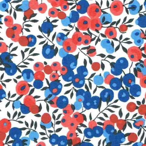Liberty Wiltshire bleu et rouge x10cm