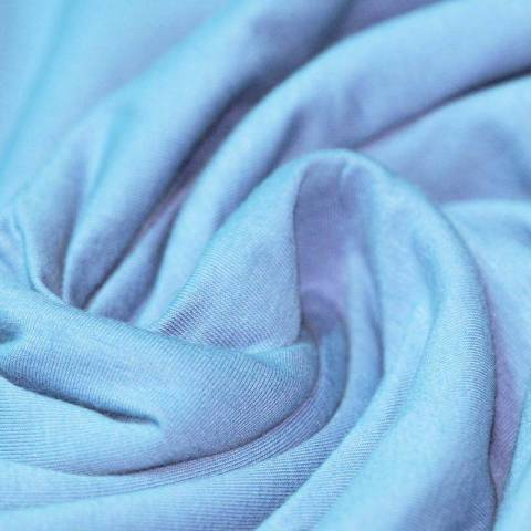 Jersey coton bleu clair