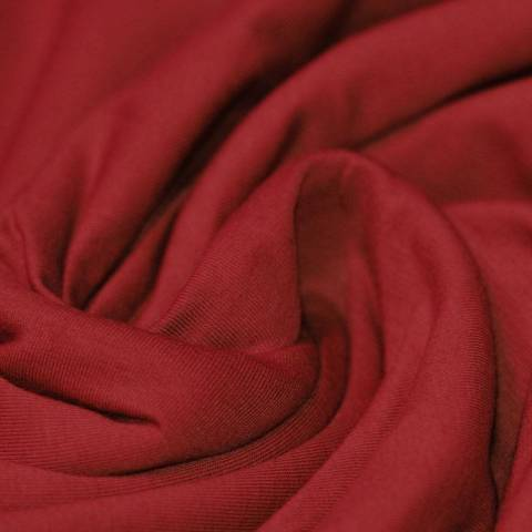 Jersey coton rouge brique
