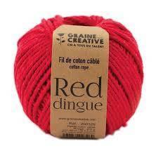Fil de coton cablé 2,5mm – Red dingue