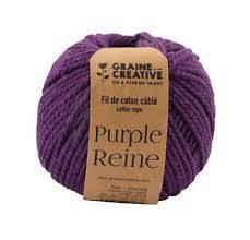 fil de coton cablé 2,5mm – Purple reine