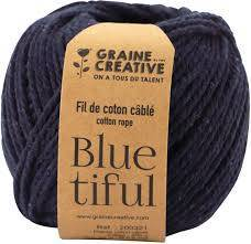 Fil de coton cablé 2,5mm – Blue tiful