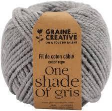 Fil de coton cablé 2,5mm – One shade of gris