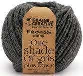 fil de coton cablé 2,5mm – One shade of gris plus foncé